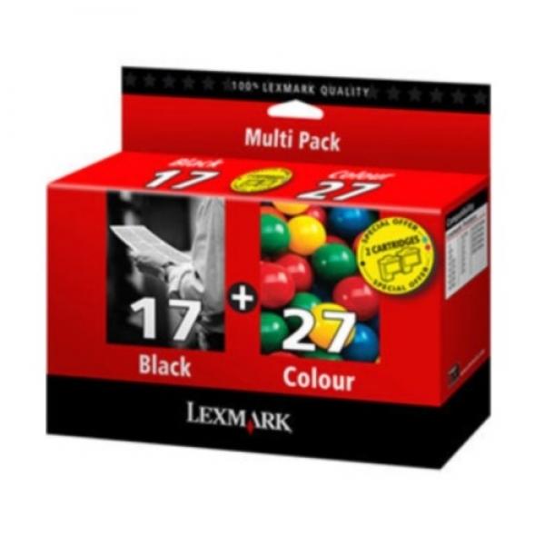 Cartus Lexmark dual pac k #17+#27 80D2125