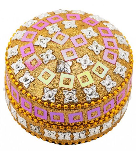 Caseta Lisbeth Dahl,rotunda ,auriu 3.5cm 072