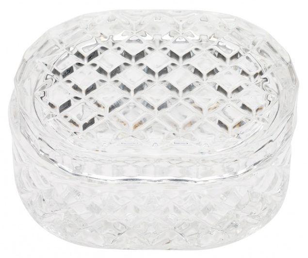 Caseta ovala din sticla clara Lisbeth Dahl,model Arlechin