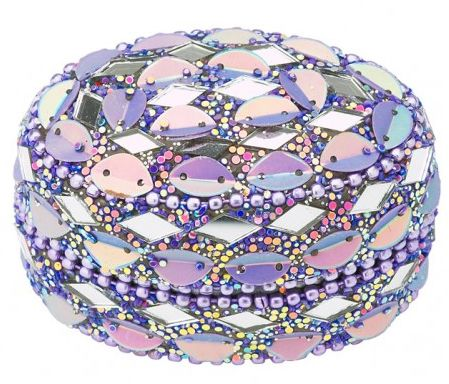 Caseta ovala Lisbeth Dahl, mozaic lila 3,5cm
