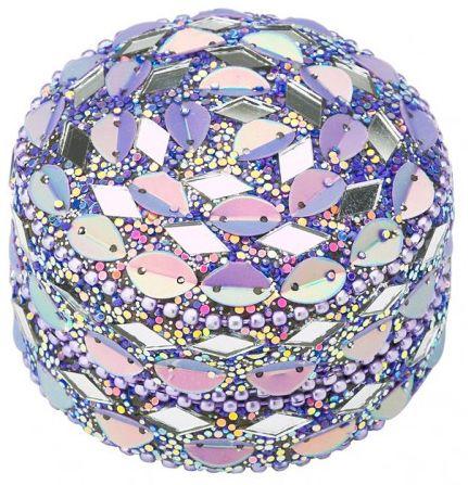 Caseta rotunda Lisbeth Dahl, mozaic lila,3,5cm