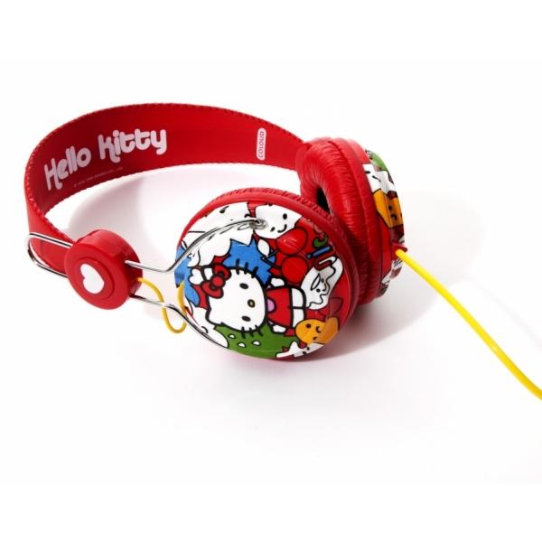 Casti Coloud Hello Kitty Red Nice