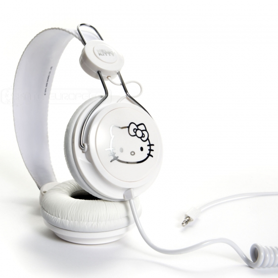 Casti Coloud Hello Kitty White