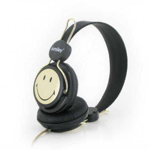 Casti Smiley Original negru/auriu