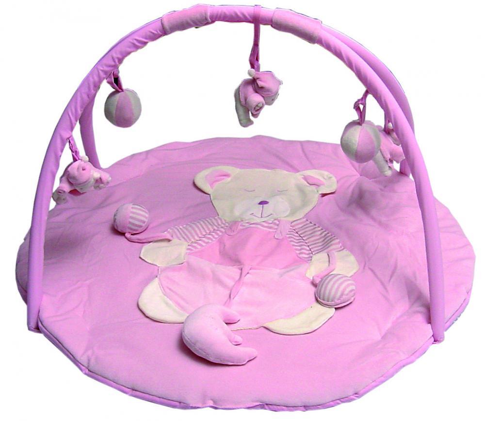 zzCentru de joaca urs roz 89*89*2.5 cm