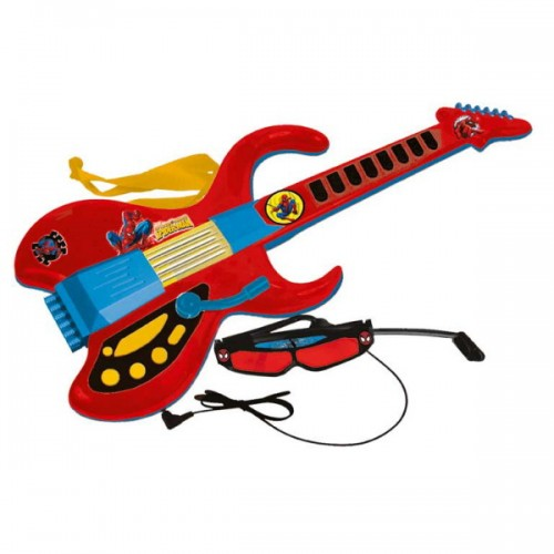 Chitara electronica,6 corzi,curea Spiderman