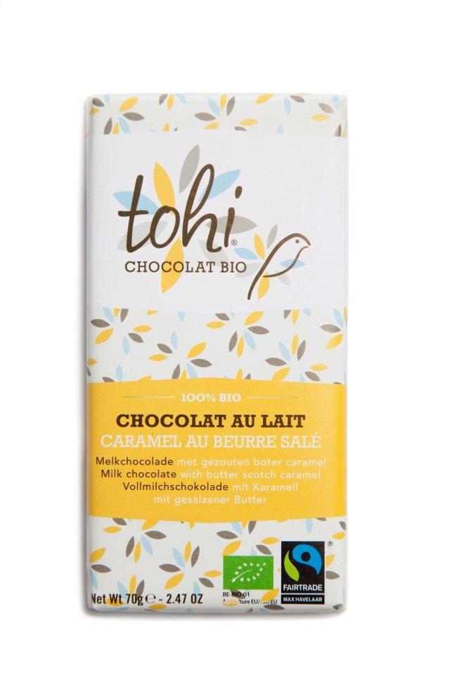 Ciocolata  70g TOHI, Lapte caramel, Unt