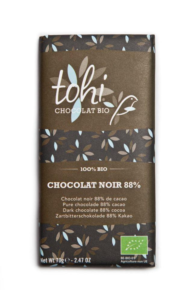 Ciocolata 70g TOHI,  Neagra 88%