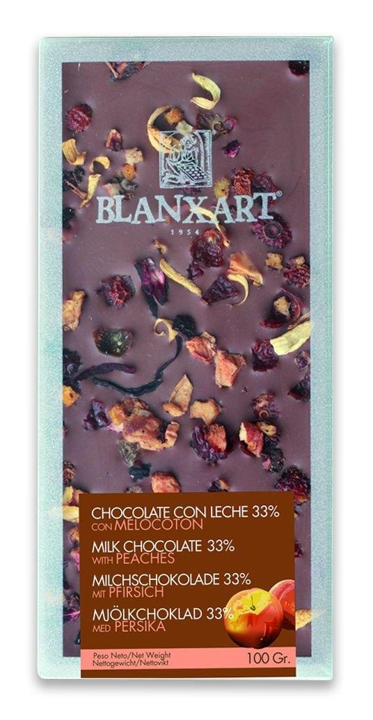 Ciocolata Blanxart 100g , Lapte Piersica