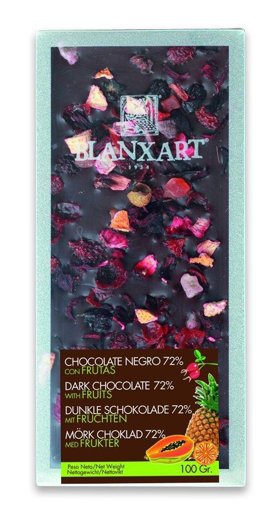 Ciocolata Blanxart 100g , Neagra Fructe Exo.