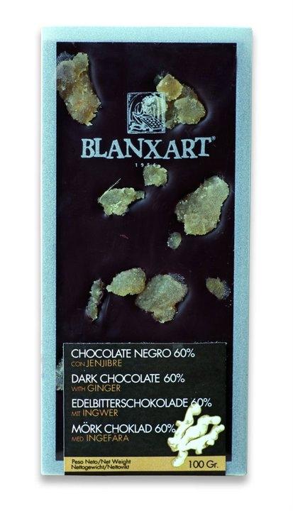 Ciocolata Blanxart 100g , Neagra Ghimbir Confiat