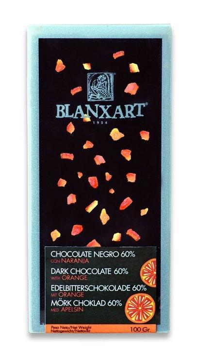 Ciocolata Blanxart 100g , Neagra Portocale