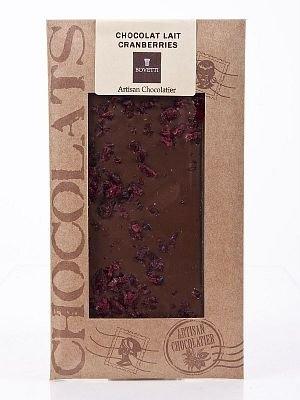 Ciocolata Bovetti 100g Alba Merisoare