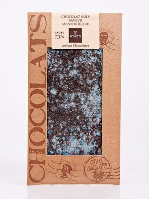 Ciocolata Bovetti 100g Neagra Menta cristalizata