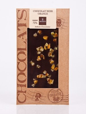 Ciocolata Bovetti 100g Neagra Portocale