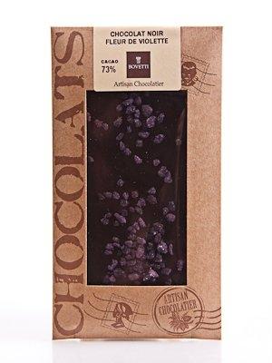 Ciocolata Bovetti 100g Neagra Violeta cristalizata