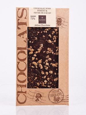 Ciocolata Bovetti 25g Neagra Ardei Iute