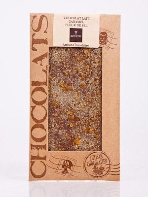 Ciocolata Bovetti 50g Lapte Caramel Sare
