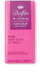Ciocolata Dolfin 30g Neagra Piper Roz