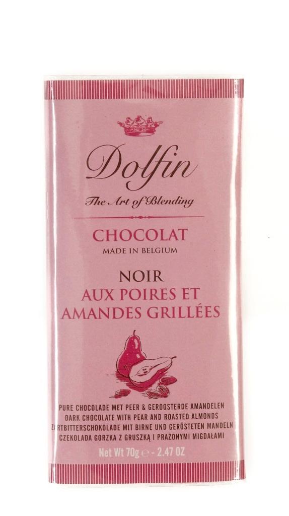 Ciocolata Dolfin 70g cu Pere-Migdale