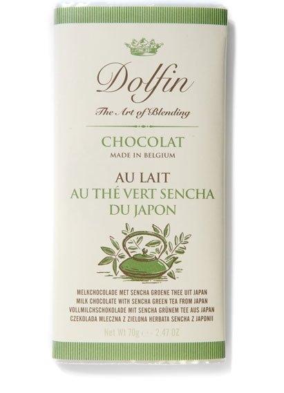 Ciocolata Dolfin 70g Lapte Ceai Verde