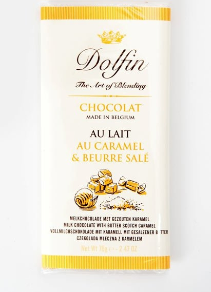 Ciocolata Dolfin 70g Lapte Unt Caramel