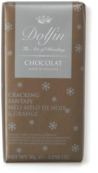 Ciocolata Dolfin 70g Neagra Portocale