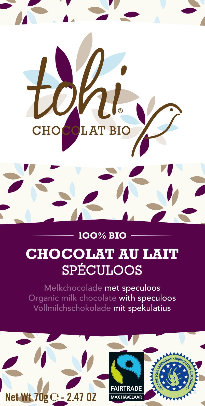 Ciocolata Tohi 70g, Lapte Biscuiti Spec.