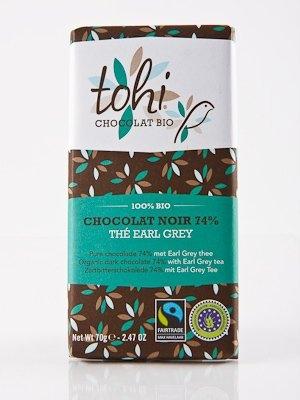 Ciocolata Tohi 70g Neagra , Earl Grey