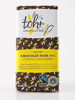 Ciocolata Tohi 70g Neagra , Lamaie & Ghimbir