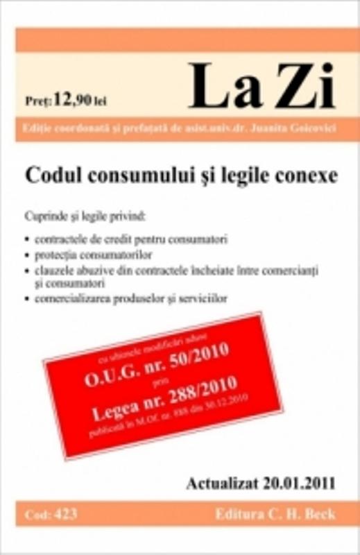 CODUL CONSUMULUI ( COD 423) ACTUALIZAT LA 20.0