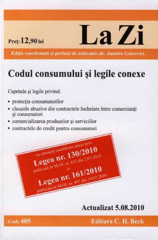 CODUL CONSUMULUI SI LEG LEGILE CONEXE ( COD 40