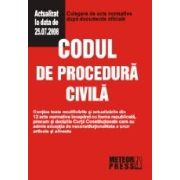 Codul de procedura civila, ***