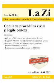 Codul De Procedura Civila Si Legile Conexe Legea 60/2012