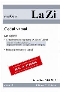 CODUL VAMAL ( COD 413) ACTUALIZAT LA 05.09.201