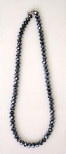 Colier Cristal,negru metalic