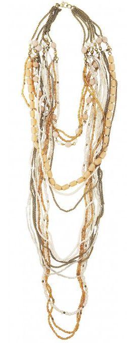 Colier Lisbeth Dahl,auriu, 14 rânduri,091