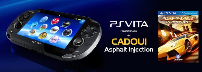 Consola PS Vita Black 3G + jocul Asphalt : Injection CADOU