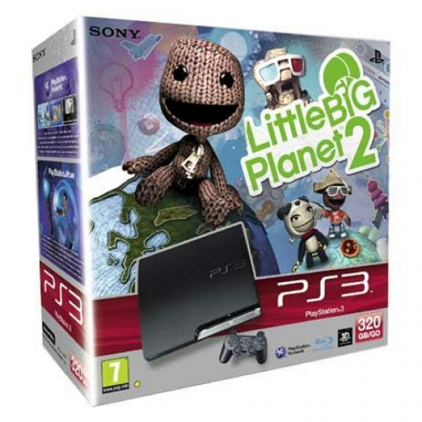 CONSOLA PS3 320GB +LITTLE BIG PLANET 2