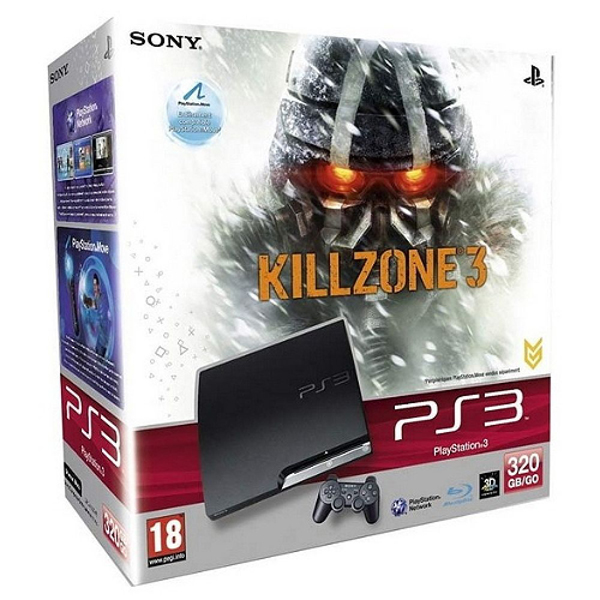 CONSOLA PS3 SLIM 320GB &  joc KILLZONE 3 PS3