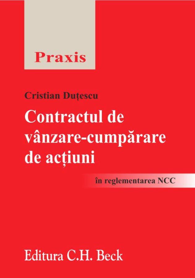 CONTRACTUL DE VANZARE-CUMPARARE DE ACTIUNI IN REGLEMENTARE NCC