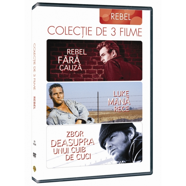 COOL HAND LUKE /  REBEL WITHOUT A CAUSE /  ONE FLEW OVER THE CUCKOO'S NEST-COLECTIE 3 FILME: REBEL