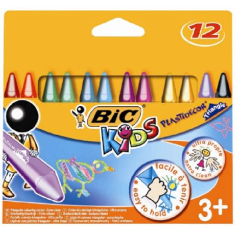 Creioane cerate,12b/set,Bic Plastidecor