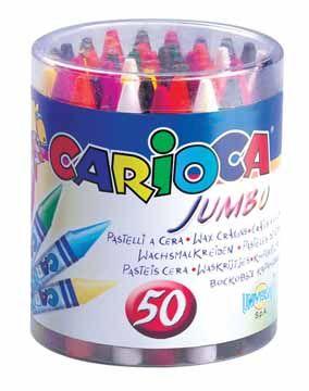 Creioane cerate,50b/set,Carioca Jumbo