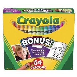 Creioane cerate,64buc/set,Crayola