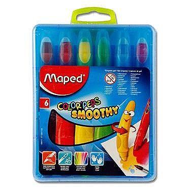 Creioane cerate,6b/set,Maped Smoothy
