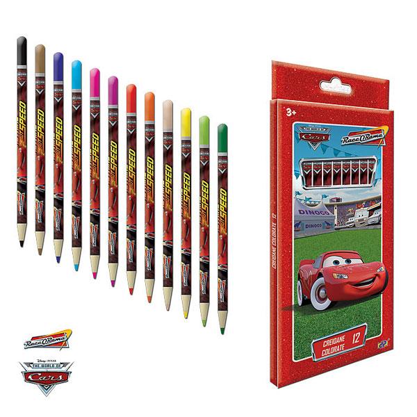 Creioane colorate 12b/cutie m.,Cars
