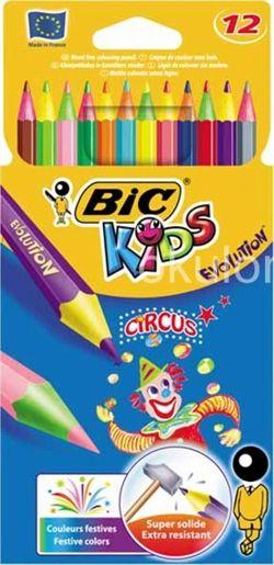 Creioane colorate,12b/s,Bic Evo. Circus