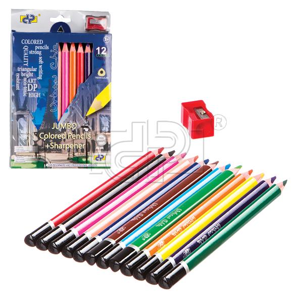 Creioane colorate,12b/set,jumbo,asc,DP