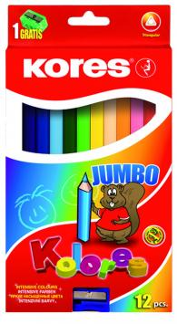 Creioane colorate,12b/set,jumbo,as,Kores